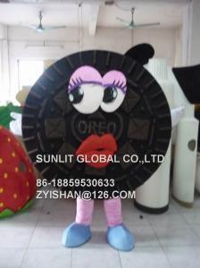 China oreo cookie mascot costume/customized fur product replicated mascot costume on sale