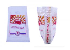 China Opaque White BOPP Laminated PP Woven Bags For 25 Kgs Rice / Feed Fertilizer on sale