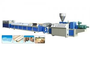 China High Production WPC Profile Extrusion Line 380V 3P 50HZ Input CE Approval on sale