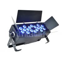 18 X 18 Watt RGBWA + UV 6 In1 LED Party Lights / Professional Stage Lighting