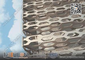 China Металлический лист пефорированный алюминием для украшения стены здания on sale