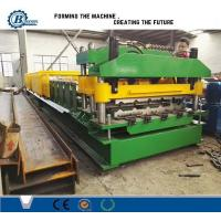 18 Stands Color Coated Steel Step Roof Panel Roll Forming Machine For Building