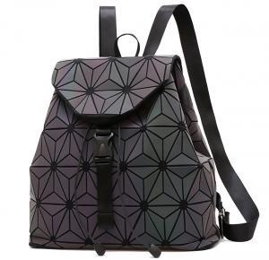 China WHOLESALES Laser Geometric Backpack China Supplier Holographic Bag PU Leather Fashion Bag Design OEM Bag offer on sale