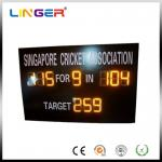 China Cricket Match Customized Small Digital Scoreboard LOGO In High Bright Amber Color wholesale