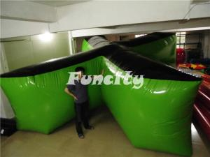 China Outdoor X Shape Tactical Air Inflatable Bunkers For Paintball Games on sale