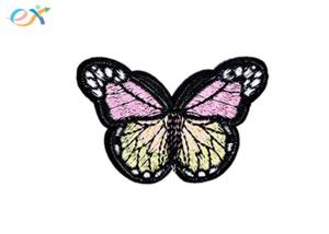 China Beautiful Flower Butterfly Custom Embroidered Patches Apparel Accessories on sale