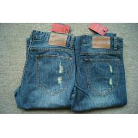 China Hot selling 2100 pieces men's frazzle design Jeans Classical denim pants over stock on sale