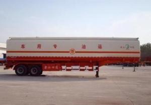 China Aluminium Steel Tank Truck Trailer 45000 Liters For Oil Tanker Semi Trailer on sale