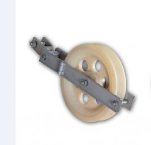 China Large Diameter Rope Pulley ACSR Conductor Single Sheave Stringing Block Dia 160mm 10KN ACSR on sale
