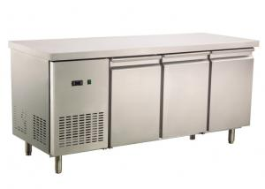 China 2 / 3 / 4 Doors Commercial Undercounter Fridge CE Approved Stainless Steel Work Bench on sale