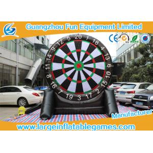 China Single Dart Board Commercial Inflatable Football Games For Kids 4mH on sale