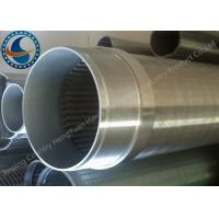 Water Treatment Stainless Steel 304 Well Screen , Wedge Wire Screen Cylinders