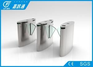 China Face recognition Stainless Steel Turnstiles gate , High speed flap gates acccess control system on sale