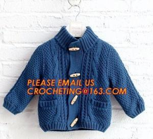 China New arrival british style warm childrens coat thick boys sweater, Fashionable Winter Coats Woolen Sweater Designs For Ki on sale