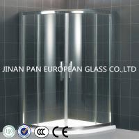 China High strength frosted tempered glass bathroom door on sale