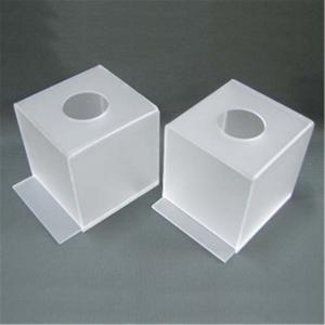 China square Frosted Acrylic box tissue storage holder on sale