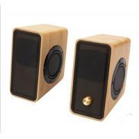 Real Bamboo Wired Wooden Speaker , Super Bass Multimedia HiFi Desk Stereo Speaker