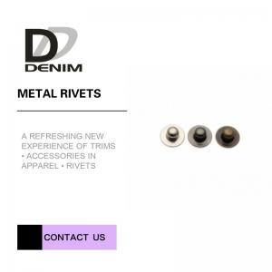 China Customizations Round Head Decorative Brass Rivets , Decorative Rivets For Clothing on sale