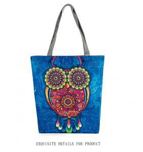 China Owl printed canvas bag handbags ladies handbag shoulder bag women on sale