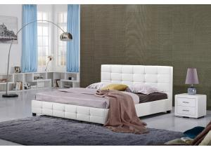 China White Full Size Hotel Platform Bed / Firm Modern Twin Platform Bed on sale