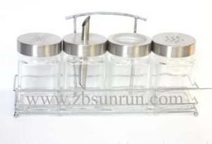 China glass spice jar set on sale