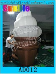 China Custom Inflatable Advertising Products / Inflatable Ice Cream For Playing Center on sale