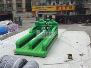 China 0.55MM PVC Tarpaulin Double Lanes Jumping Bungee Run Game EN14960 on sale