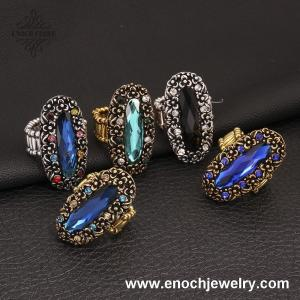 China Exquisite Bridal Tribe Style Crystal Luxury Rings For Women&Men on sale