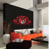 China Reusable Home Decor Acrylic Heart Wall Sticker Clock 10D047 on sale