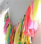 Décor en gros de maison de partie de fiesta de fond de photo d'appui vertical de photo de gland de tissu/fête de naissance des kits 240PCS/Lot de DIY