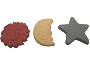China Sun Moon Star Porous Ceramic Stone For Air Fresher Scented Clay on sale