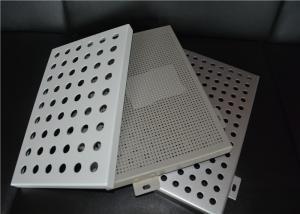 China Aluminum Round Hole Architectural Perforated Metal Panel / Perforated Metal Sheet on sale