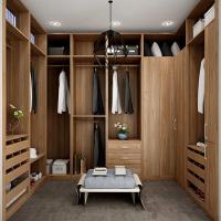 U Shaped Built In / Walk In Closet Organizers Italian Design Blum Soft Close Slider