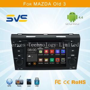 China Android 4.4 car dvd player GPS navigation for Mazda 3 2004-2009 with wifi ipod SWC 2 din on sale