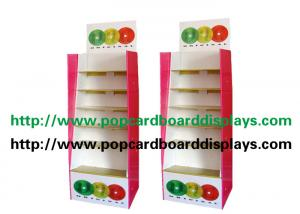 China Assembling Paper Made Cardboard Floor Displays , Corrugated Sidekick Display Rack on sale