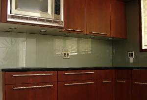 China White Plate Glass Backsplash , Painting Laminate Backsplash Low E Glass on sale