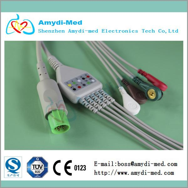 Hellige One-Piece ECG Cable - Cables & Sensors for sale