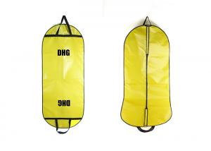 China Yellow Dress Garment Bag With Lamination , Suit Garment Bag Full Color Printed on sale