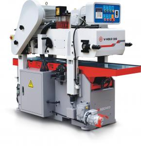 China Attached Flat Knife Shaft Double Side Planer Machine Centralized Lubrication System on sale