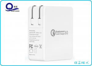China Foldable US Plug Smart Wall Charger 4 USB Ports QC3.0 Quick Charger supplier