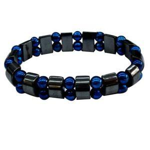 China magnetic hematite bracelet mix PMMA beads on sale