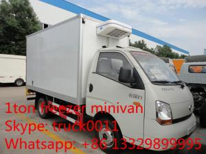 China Forland 4*2 LHD mini cold room truck for sale, forland brand LHD refrigerated minibus for ice-cream and frozen food on sale