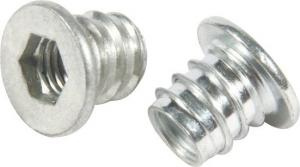 China White Customize M8 Hex Insert Nut , M10 Insert Nuts Type D For Wood Furniture on sale