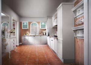 China Marco de aluminio de los armarios de cocina simples de encargo de Thermofoil con las puertas del vidrio esmerilado on sale