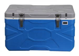 China Heavy Duty Blue Rotomolded Cooler Box Food Cold Storage With 3 Large Reusable Ice Packs on sale