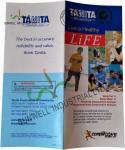 Normal Binding Folded Leaflet Printing , Custom Tri Fold Brochure Pamphlet