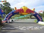 アーチのドアを広告する昇進の大きいInflatablesはナイロン材料を裂停止する