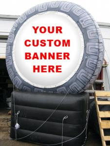 China inflatable product model replica / inflatable tire  / PVC Inflatable giant tire advertising on sale