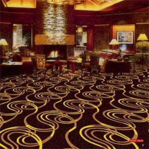 China Soft Circle Pattern PVC Commercial Flooring / Floral Wall To Wall Carpet on sale