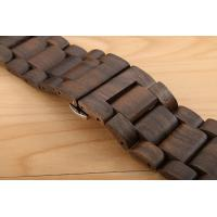 Ultra Thin Handmade Wood Accessories Black Sandal Apple Band For Smart Watch